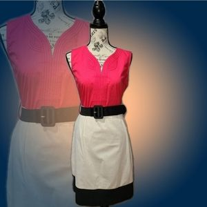 *NWOT Leshop Colorblock Midi Dress